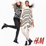 Jourdan Dunn y Natasha Poly con looks casuales de la colección de Navidad 2015 de H&M