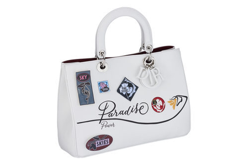 Bolso blanco cuadrado pequeño de asa de la línea 'Dior Paradise'