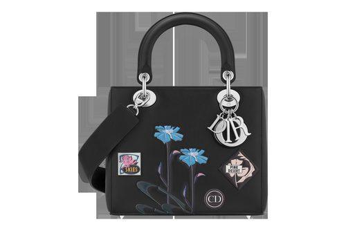 Bolso negro cuadrado pequeño de asa de la línea 'Dior Paradise'