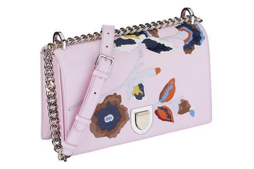 Bolso rosa pequeño rectangular con asa larga de cadena de la línea 'Dior Paradise'
