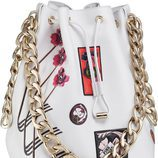 Bolso saco color blanco con cadena dorada de la línea 'Dior Paradise'