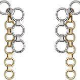 Pendientes largos en plata y dorado con círculos de la línea 'Dior Paradise'