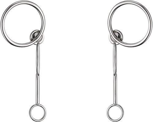 Pendientes largos en plata círculos de la línea 'Dior Paradise'