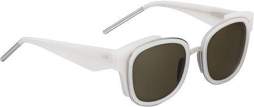 Gafas de sol blancas con crital negro y patillas asimétricas de la línea 'Dior Paradise'