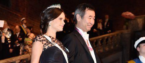 La Princesa Sofía de Suecia con un vestido Oscar de la Renta en la entrega de los Premios Nobel 2015