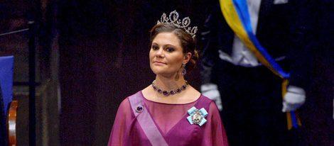 La Princesa Victoria de Suecia en la entrega de los Premios Nobel 2015
