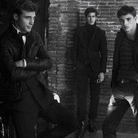 Modelos en blanco y negro con trajes de Massimo Dutti AW 2015