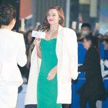 Miranda Kerr en un evento navideño en Chengdu (China)