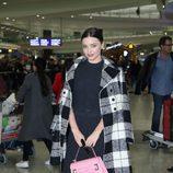 Miranda Kerr a su llegada a Hong Kong (China)