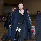 Miranda Kerr a su salida de Seul (Corea del Sur)