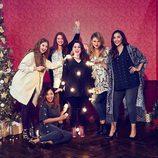 Melissa McCarthy con modelos y luces para 'Seven7'