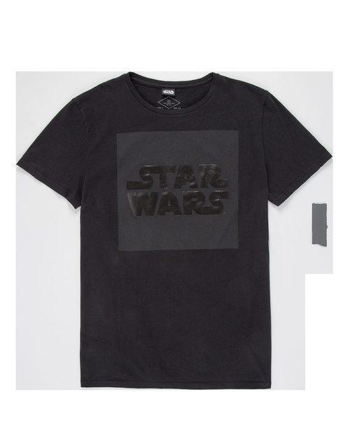 Camiseta negra de manga corta con logo de 'Star Wars' para Lefties