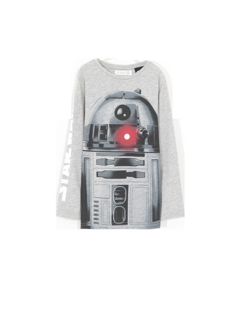 Camiseta gris de manga larga con R2D2 de 'Star Wars' para Lefties