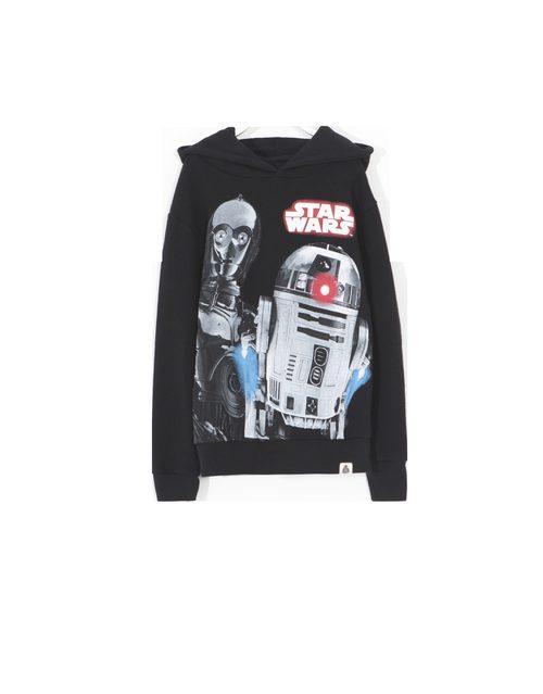 Camiseta negra con capucha con personajes de 'Star Wars' para Lefties