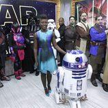 Lupita Nyongo en Good Morning America! con caracterización de 'Star Wars'