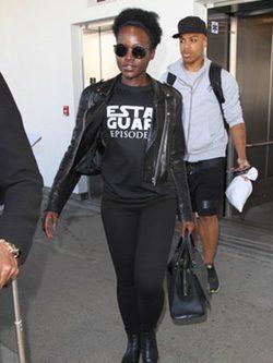 Lupita Nyongo en Los Angeles para la presentación de 'Star Wars'