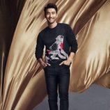 Total black en prendas masculinas para la línea 'We are in love' de la colección H&M para el año nuevo chino
