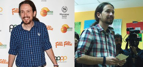 Pablo Iglesias con camisa de cuadros azules