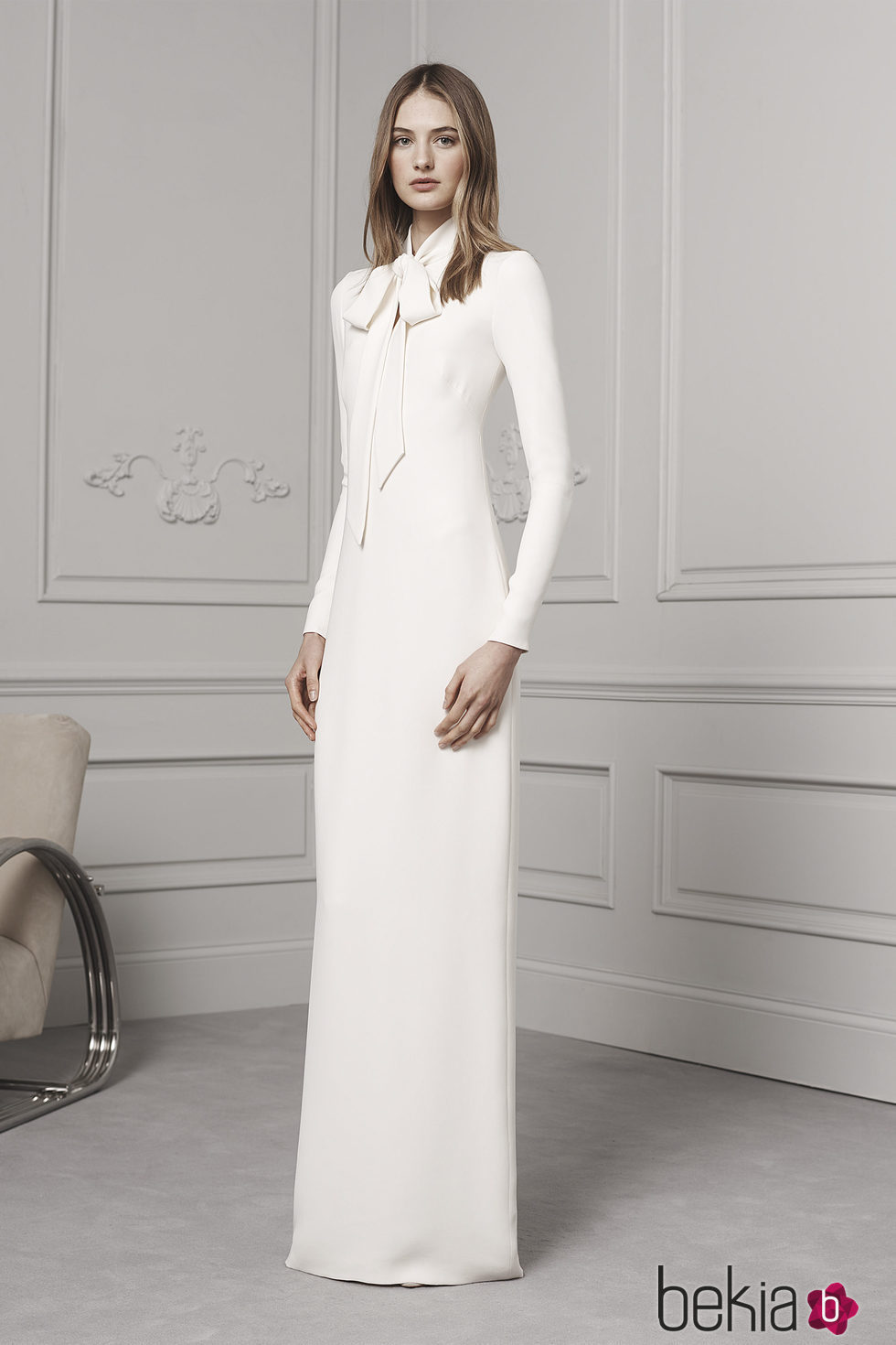 Vestido blanco largo ralph lauren