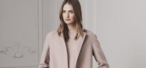 Blazer largo y pantalones de traje en rosa palo de Ralph Lauren para la colección Pre-Fall 2016