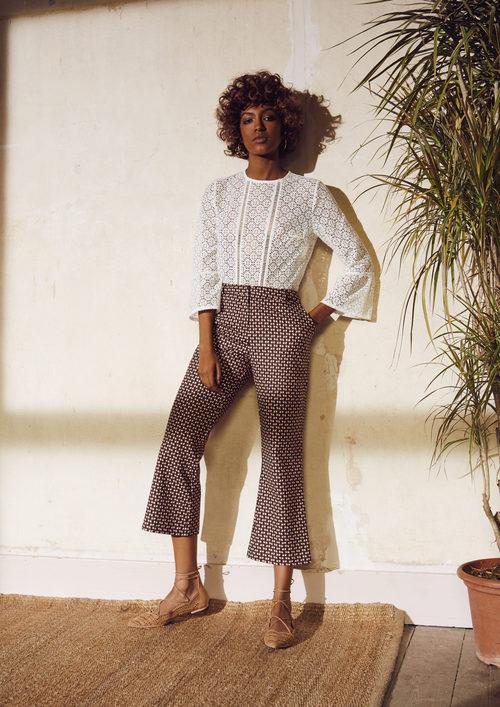 Blusa y pantalones con estampado geométrico de Primark para la temporada primavera/verano 2016