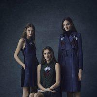 Vestidos midi en azul oscuro con detalles de la colección Pre-Fall 2016 de Erdem
