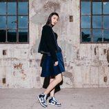 Falda con vuelo azul de la colaboración 'NikeLab x Sacai' para 2016