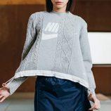 Jersey gris con nudos y logo de Nike de la colaboración 'NikeLab x Sacai' para 2016