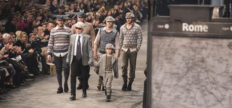 Chalecos de jacquard en lana de la línea masculina de la última colección de Chanel