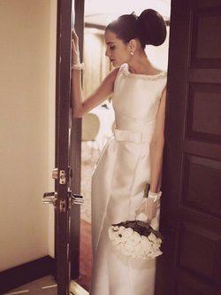 Natalia Jiménez se casa con un vestido de novia de Rosa Clará