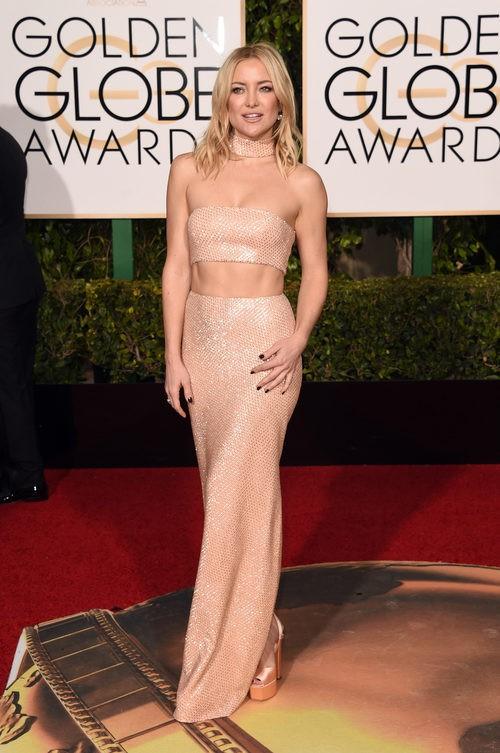 Kate Hudson con conjunto nude de Michael Kors