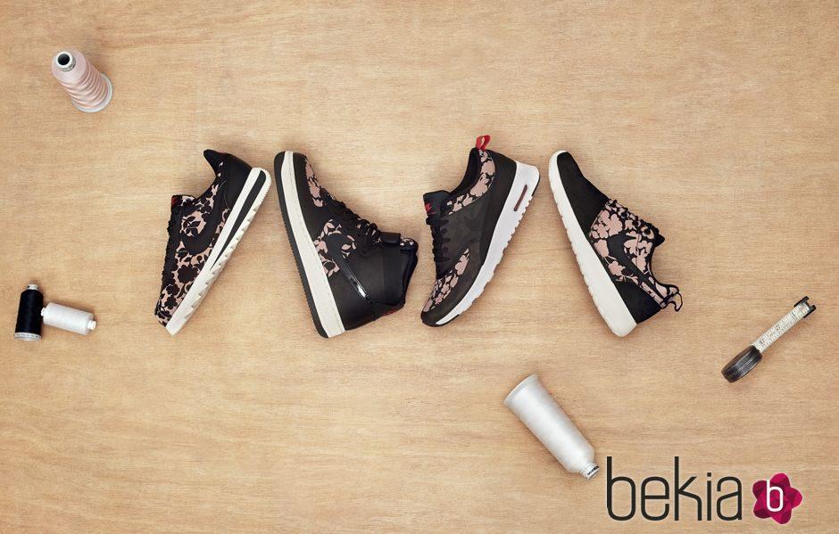 Imagen de la campaña colaborativa Liberty London x Nike