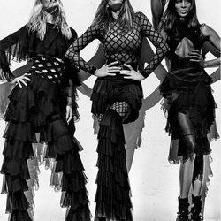 Claudia Schiffer, Cindy Crawford y Naomi Campbell para la colección de Balmain primavera/verano 2016