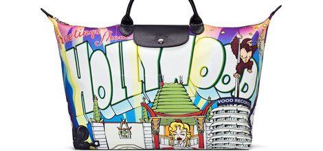 Bolso 'Le Pliage' con estampado graffiti de Jeremy Scott para Longchamp