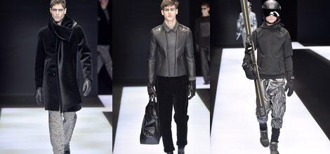 Maxi abrigo negro de terciopelo para Armani