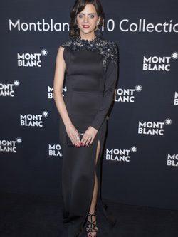 Macarena Gómez con vestido negro en la presentación de Montblanc