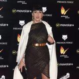 Rossy de Palma con un vestido brillante en los Premios Feroz 2016