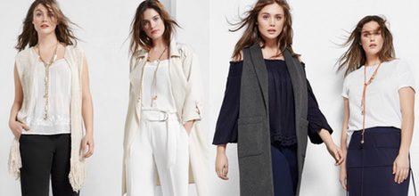 Conjuntos blancos con chalecos largos y pantalones anchos de Violeta by Mango