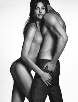 Irina Shayk y Chris Moore en la campaña denim de Givenchy invierno 2016