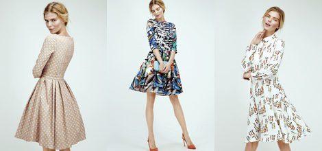Vestido corte lady con estampado geométrico de Dolores Promesas Resort 2016