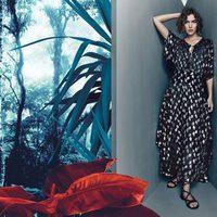 Vestido largo ancho con estampado asimétrico de Pinko para Primavera/Verano 2016