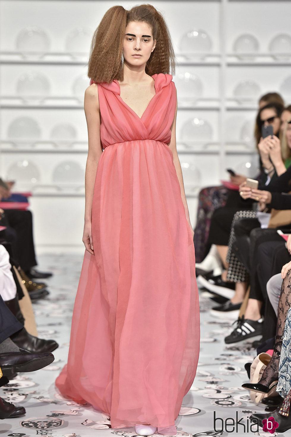 Vestido rosa claro de gasa estilo romano de Schiaparelli en la ...