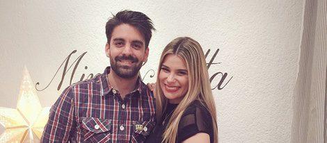 María Lapiedra y su marido Mark Hamilton en su tienda de ropa Mina&lotta BABY
