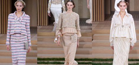 Traje tres piezas con estampado madras de Chanel en la Semana de la Alta Costura de París primavera/verano 2016