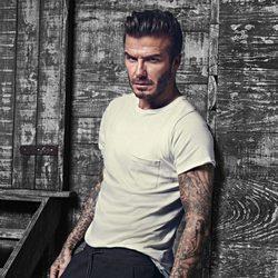 David Beckham con camiseta blanca de la colección 'David Beckham Bodywear'