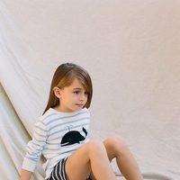 Jersey con dibujo de ballena estampada y pantalones cortos de Nice Things Mini