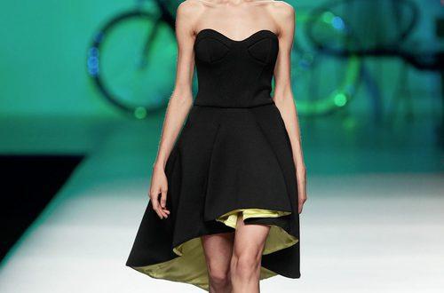 Vestido asimétrico en clave lady con escote corazón de Maya Hansen