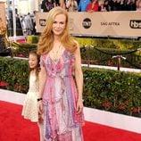 Nicole Kidman con un vestido estampado en los SAG 2016