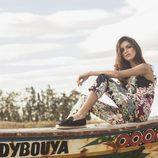Lucía Rivera Romero con un mono de flores primavera/verano 2016 de Highly Preppy