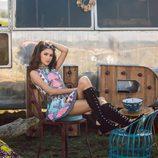 Lucía Rivera Romero con vestido multicolor de la primavera/verano 2016 de Highly Preppy